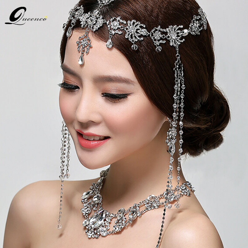 Wedding Hairstyles With Jewels: Fashion Head Chain Wedding Tiara Bridal Hair Ornaments