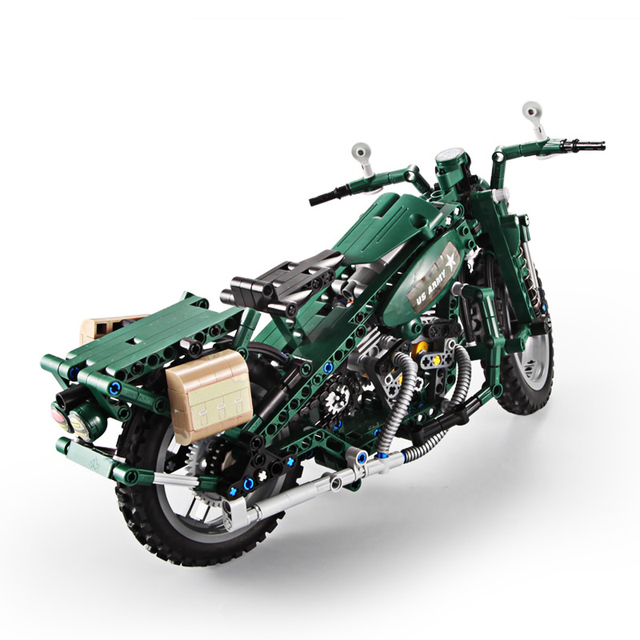 Large Technic US Army Motorcycle 2
