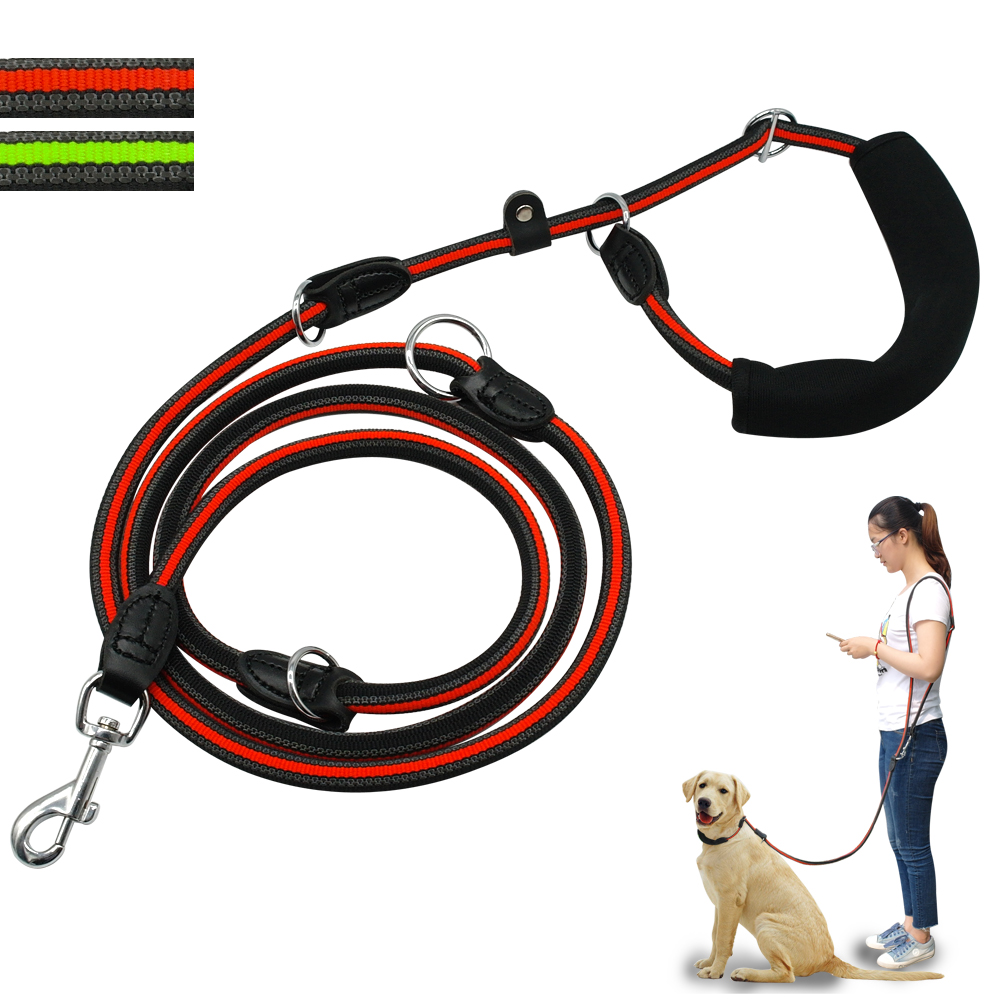 Reflective Dog Leash Hands Free Non-slip Dogs Leads Multi function Double Dog Leashes with Soft Handle For One or Two DogsReflective Dog Leash Hands Free Non-slip Dogs Leads Multi function Double Dog Leashes with Soft Handle For One or Two Dogs