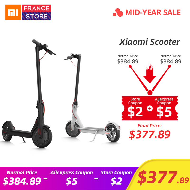 Original Xiaomi 2 Mijia M365 Inteligente Scooter Elétrico Scooter Rodas de Skate Bordo Adulto Mini Bicicleta Dobrável Hoverboard 30 km com APP
