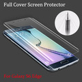 Soft TPU Anti-Shock Full Screen Coverage Protector for Samsung Galaxy S6 Edge Cover Curved Part Screen Protector for S6 Edge