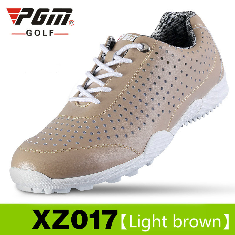 2018 Pgm Golf Shoes Men Waterproof Sports Shoes Knobs Buckle Shoes Mesh Lining Breathable Anti-slip Sneakers for men plus size sheer plus size mesh slip babydoll