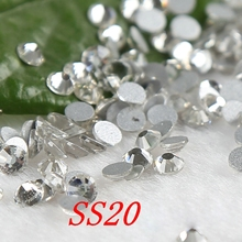 SS20 1440PCS  Crystal Clear Rhinestones beads Non Hot Fix Flatback loose paillettes