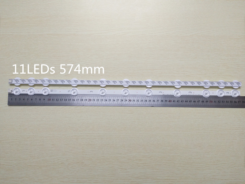 New original 5set 10pcs 11LED 575mm LED backlight for VESTEL 32 inch NDV REV1 1