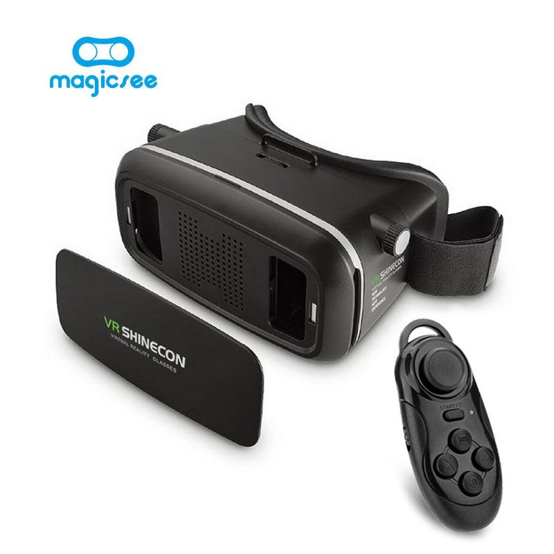 2017 <font><b>Shinecon</b></font> <font><b>VR</b></font> <font><b>Virtual</b></font> <font><b>Reality</b></font> 3D <font><b>Glasses</b></font> <font><b>Helmet</b></font> <font><b>Google</b></font> Cardboard for iPhone Samsung 3.5 ~ 6 inch Smartphone