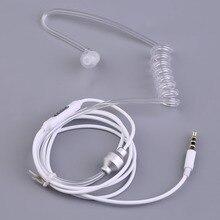 Negócio único Tubo De Ar Do Fone De Ouvido de 3.5mm in ear fone de ouvido fone de ouvido com microfone para todos os telefones