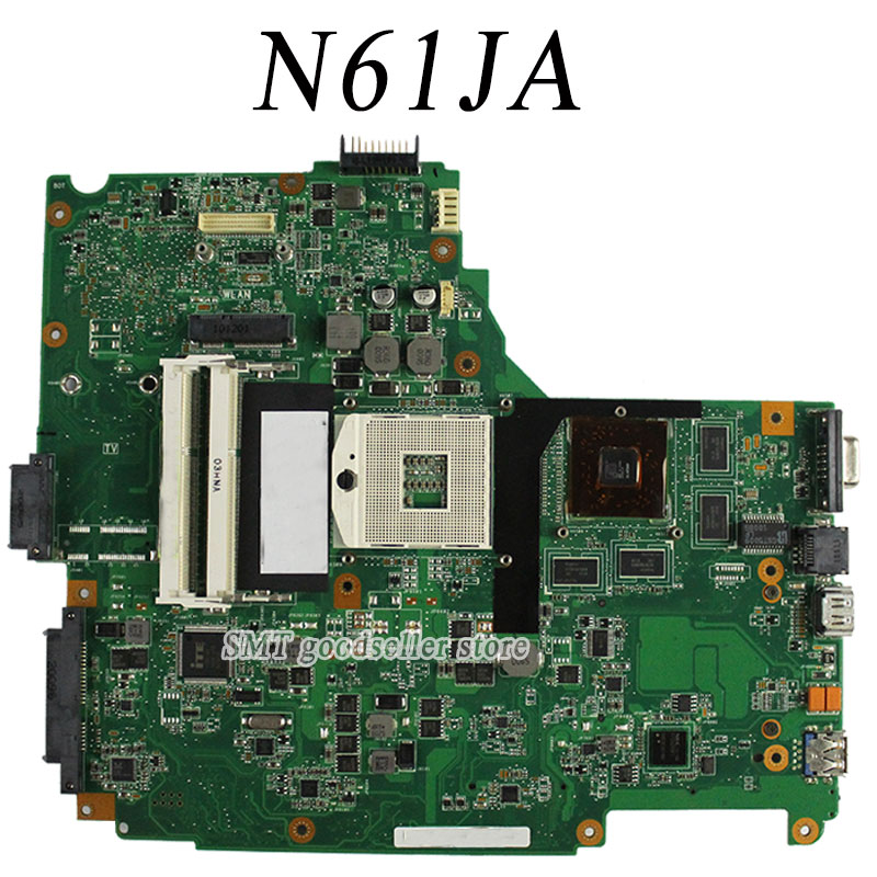 все цены на  N61JA Laptop Motherboard For Asus REV:2.1 Mainboard Support i3/i5 cpu 100% Tested & Guaranteed  онлайн