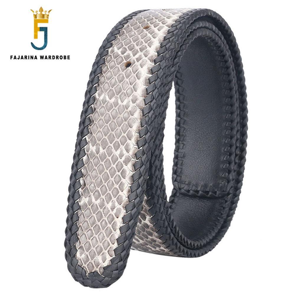 FAJARINA di Alta Qualità Vera Pelle di Serpente Cinture In Pelle per Gli Uomini Tessuto Linea di Cinghie Cintura 3 Colori Opzionale Senza Fibbia N17FJ340 - 2