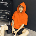 Unique Design Summer Teenagers Short Sleeved Pullover Shirt Male Solid Color All-Match Hooded Shirts