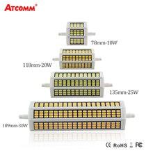 Светодиодный диодный прожектор R7S 78 118 135 189 мм, 220 В, 10 Вт, 20 Вт, 25 Вт, 30 Вт, светодиодный прожектор R7S SMD 5730 с высоким люменом, без мерцания