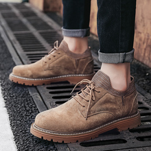 2019 New Arrival Spring Autumn Boots Men Suede Leather Unisex Style Fashion Male Work Shoes Lover Martin Boot Genuine