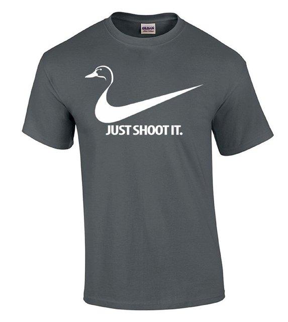 3f375595c237 Baumwolle Jersey Mens Tees Nur Schießen Es Ente T-shirt Ente Hunter  Geschenk Hemd Comfort
