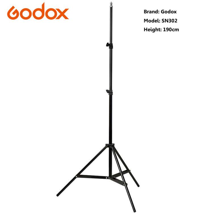 Prix pour Godox 190 cm 6ft Photographie Éclairage de Studio Photo Lumière Stand Trépied Pour Flash Stroboscopique Lumière Continue # SN302