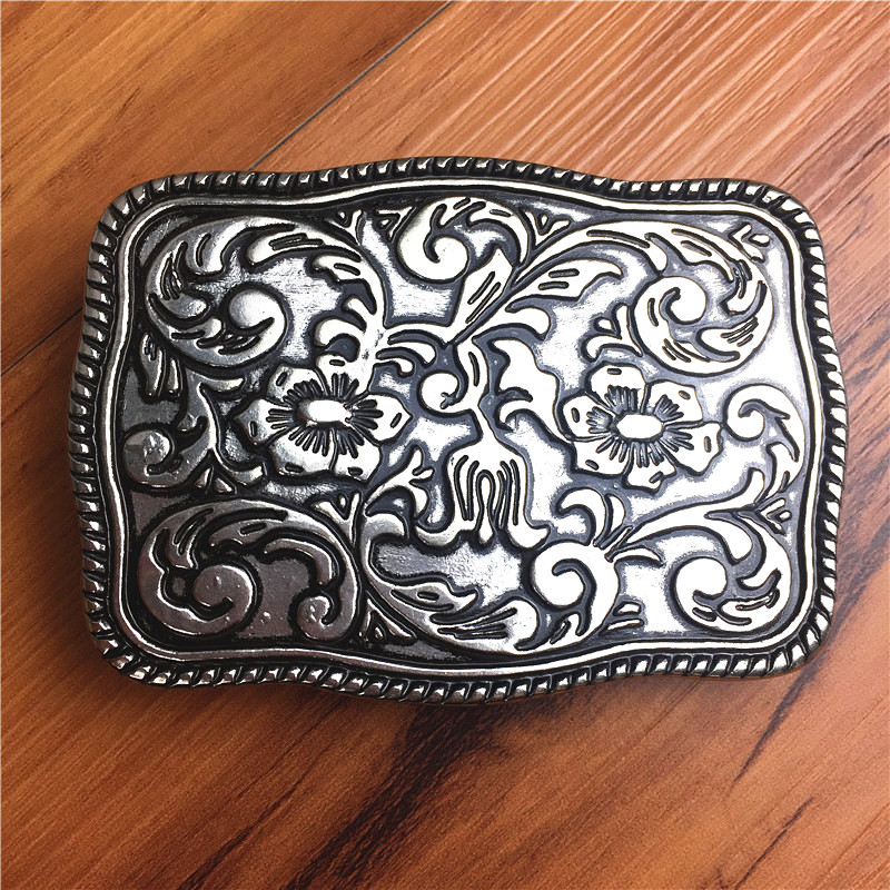 100% Alloy Belt Buckle Chinese Style Flower Man Belt Buckle DIY Accessories For Men Leather Belt AK0034