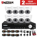Tmezon 8CH HDMI DVR 8*1200TVL 48 Leds CCTV Dome Camera Indoor Outdoor Night Vision 130ft Home Security system with 2TB