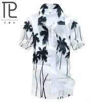 Mens Hawaiian Shirt Casual Floral Print Shirts Men Short Sleeve Male Brand Loose Beach Clothing Camisa