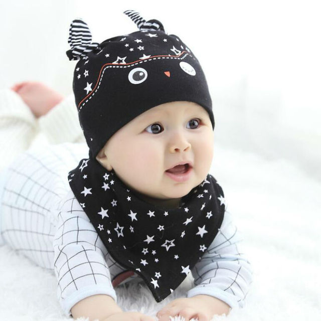 Baby Cap For Boys Clever Cute Baby Cap and Scarf Set Knit Baby Hats Newborn  Cotton Soft Fashion Baby Caps Girls Kids Winter Hat 82ce6a8105b