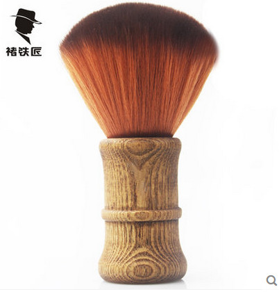 1pcs Wood Handle SMITH-CHU Professional Synthetic Hair Brushes playing Broken Powder Brush Soft Single Hairdressing Brush c p smith on playing oboe recorder flage paper only