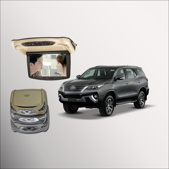 Bigbigroad For Toyota Fortuner Car Roof Mounted In Car Led Digital