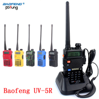 2 PCS Baofeng UV 5R UV5R UV 5R Walkie Talkie UHF VHF Ham CB Two Way Radio Station Boafeng Transceiver Portable 10 km Woki Toki