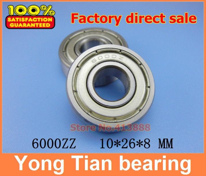 High quality deep groove ball bearing 6000 Z 6000ZZ 6000Z 6000-2Z 80100 10*26*8 mm 20pcs/lot free shipping quality gcr15 6326 zz or 6326 2rs 130x280x58mm high precision deep groove ball bearings abec 1 p0