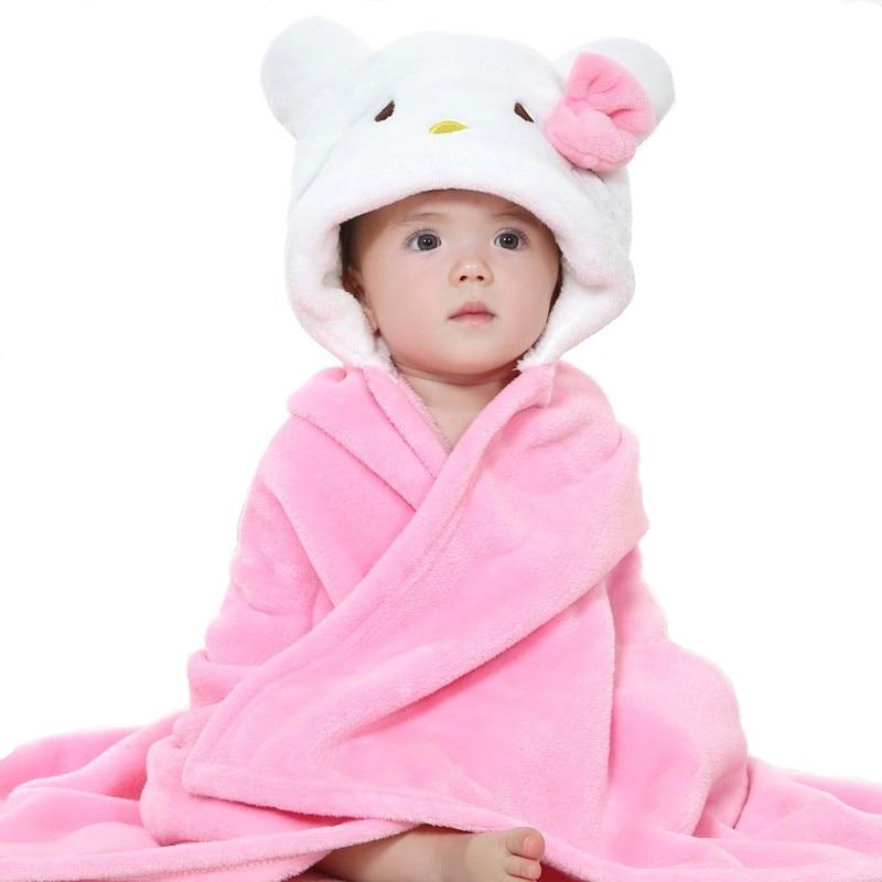 Autumn Boy Girl Towels Cartoon Poncho Hooded Bath Kids -9907