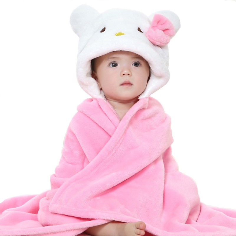 Autumn Boy Girl Towels Cartoon Poncho Hooded Bath Kids Clothes Baby Towel Newborn <font><b>Blanket</b></font> Children Bathrobe Wrap Toalha De Banho