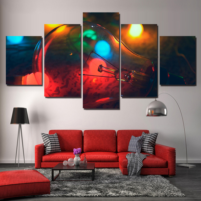 Wall Art Poster Modern Home 5 Pieces Abstract Decoration Living Room Or Bedroom Canvas Print Paint Modular Pictures Framework