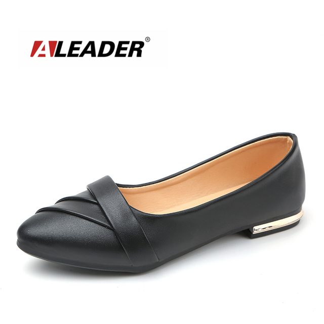 5277f8df3d1e ALEADER Women Fashion Flats Casual Luxury Slip On Women Shoes Comfortable  Dress Shoes Pointed Toes Women Moccasins Loafers Women