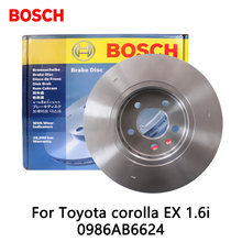 2pieces/set BOSCH Car Front Brake Disc For Toyota corolla EX 1.6i 0986AB6624