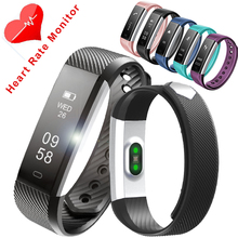 Id115 hr пульсометр запястье шагомер heart rate monitor сна tracker step counter смарт браслет рк xiaomi mi группа 2