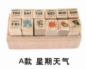 2017 new super cute mini wooden box of DIY diary stamps for scrapbooking 4 styles of stamps te0192 garner 2005 international year of physics einstein 5 new stamps 0405