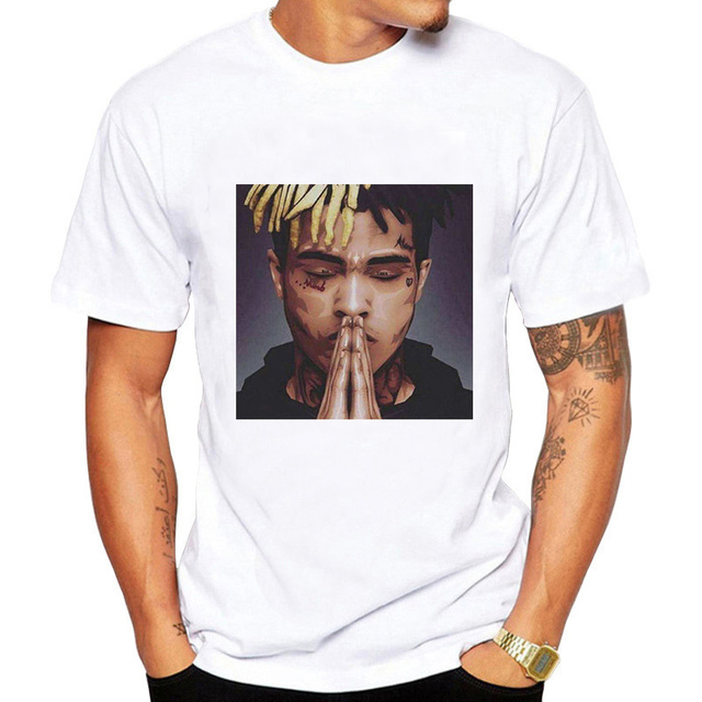 ffc5bf205c76 JCCHENFS 2018 Xxxtentacion T Shirt Men t shirt Fashion O Neck White TShirts  For Man Tops Tees Summer Short Sleeve Men Clothing