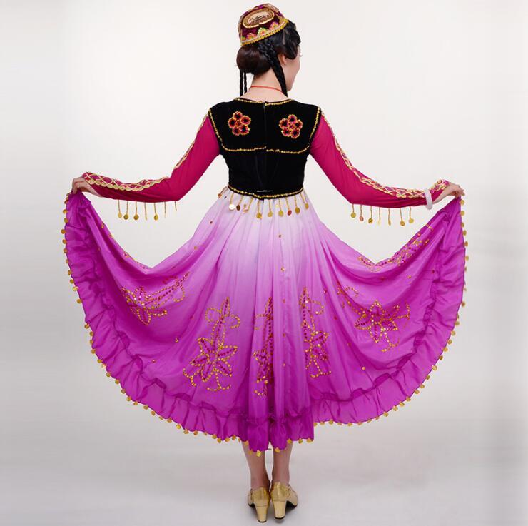 New Xinjiang dress women s clothing minority dance costumes Uyghur costume square dance