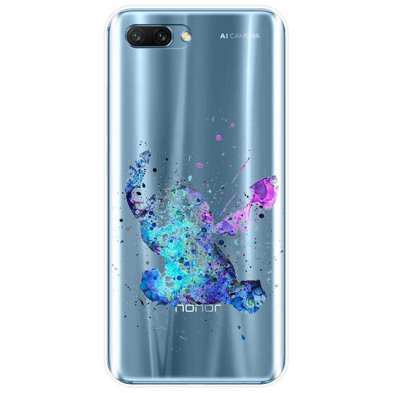 Aquarela Tinkerbell Sereia Veados Princesa Caixa Do Telefone Para Huawei COMPANHEIRO 7 8 9 10 20 pro lite MATE20 Honra 8 8C 9 10 V10 NOTE10