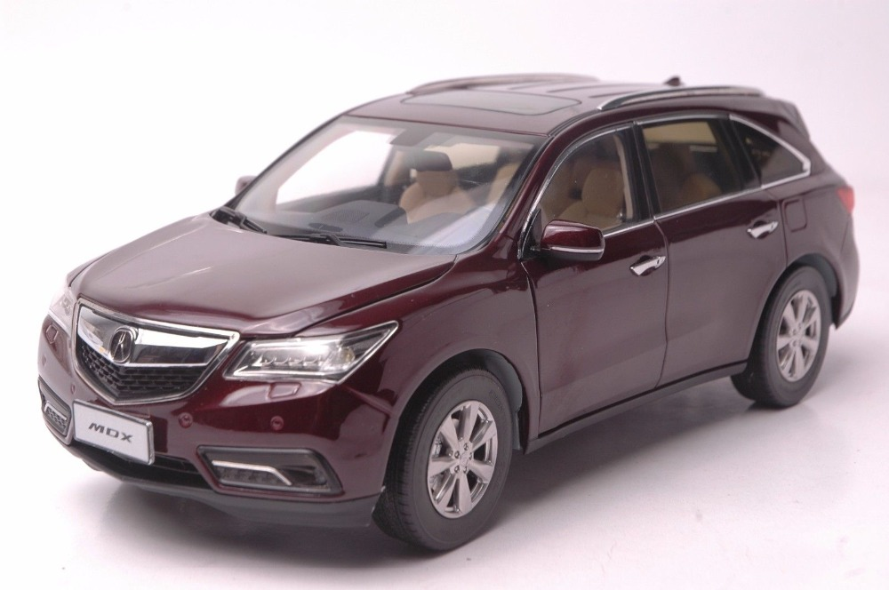 1:18 Diecast Model for Acura MDX 2015 Red Alloy Toy Car Miniature Collections red mitsubishi lancer fortis diecast model show car miniature toys classcal slot cars