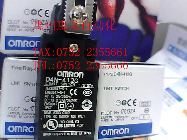[ZOB] 100% guarantee new original authentic OMRON Omron Limit Switch D4N-412G  --5PCS/LOT [zob] 100% brand new original authentic omron omron limit switch ze n 2 5pcs lot