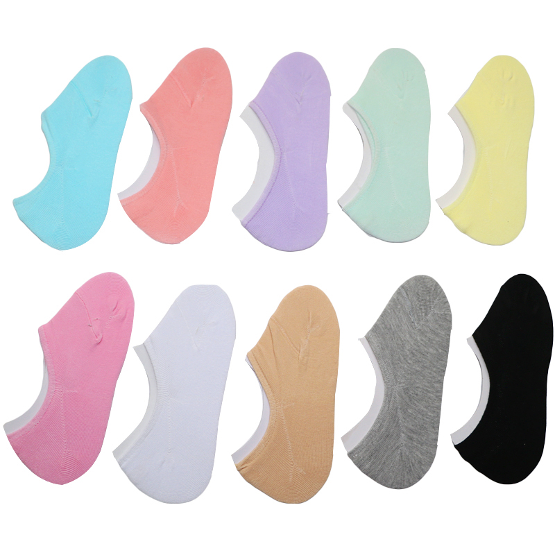Image 2 - 3Pairs Low Cut Invisible Socks Summer For Women Slippers Women Boat Socks Short Thin Meias Female Anti Slip Cute Socks Slipper-in Sock Slippers from Underwear & Sleepwears