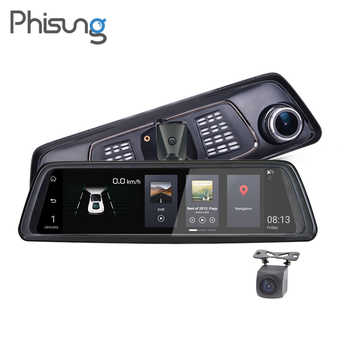 """Phisung V9 10\""""Full Touch IPS 4G Android Mirror GPS FHD 1080P Dual lens Car DVR vehicle rearview mirror camera ADAS BT WIFI - Category 🛒 Automobiles & Motorcycles"""
