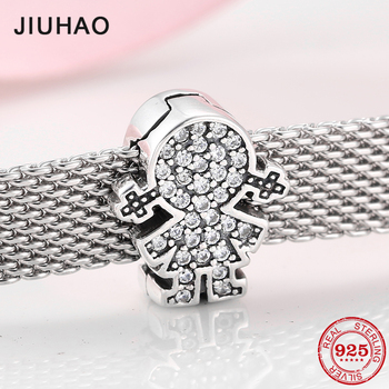925 Sterling Silver lovely little girl CZ Bead for Reflexion Charm Bracelet