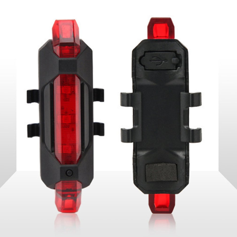 Portable Usb Rechargeable Bike Bicycle Tail Rear Safety Light Taillight Bright