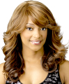 Charming Long Wavy Synthetic Wigs For Black Women Side Parting Ombre Color Kanekalon Wig Free Shipping Big Promotion