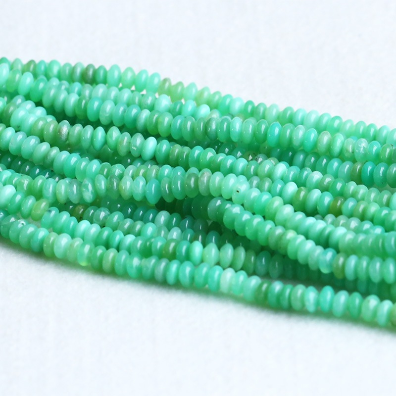 High Quality Wholesale Natural Genuine Grass Green Australia Jade Chrysoprase Rondelle Loose Beads 15 05316 5strands 5x10mm high quality genuine agate rondelle abacus white black loose beads