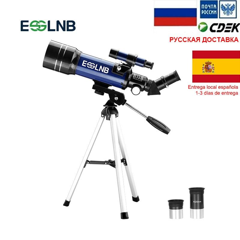 Telescópio Astronômico Com Tripé Finderscope F36070 O Novato Para Explorar o Espaço Lua Observando Telescópio Monocular Presente Para As Crianças