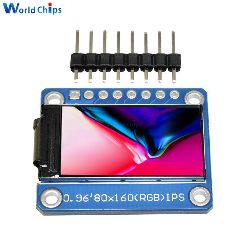 IPS 0.96 Inch 8 Pin SPI HD 65K Full Color TFT Module ST7735 Drive IC 80*160 LCD Display 3.3V SPI Interface For Arduino DIY