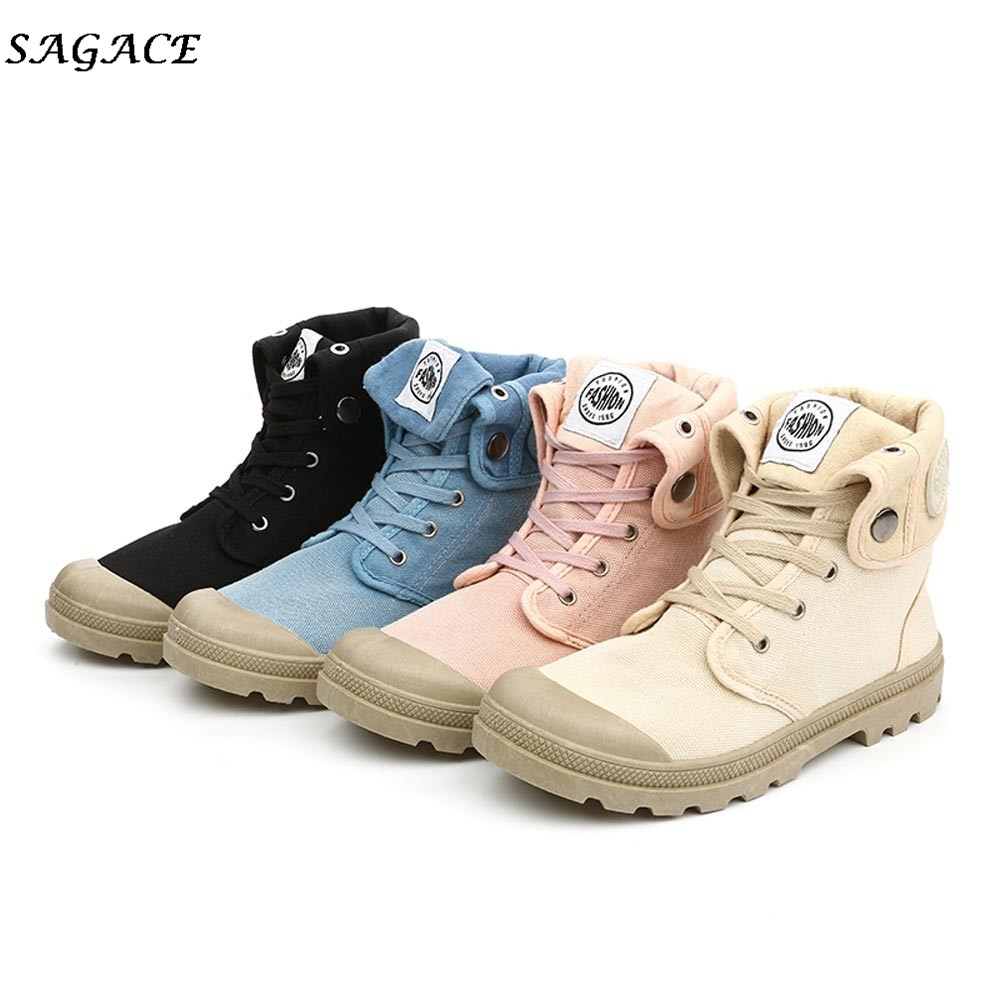 CAGACE 2018 New Shoes Women Casual High-top Style Soft Shoes 2cm Lace-up canvas Women,Girl Fashion Leisure Military ShoesCAGACE 2018 New Shoes Women Casual High-top Style Soft Shoes 2cm Lace-up canvas Women,Girl Fashion Leisure Military Shoes