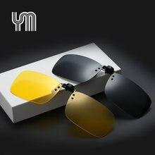 c28bc6a093 Haute Qualité lunettes de Soleil Polarisées Clip sur Foncé Lentille de  Vision Lunettes Flip Nuit Verre de Conduite Noir Facile A..