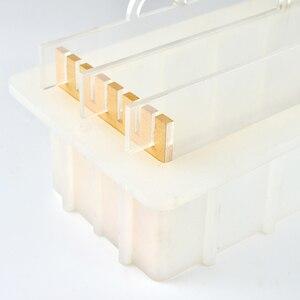 Image 4 - Nicole Rendering formy silikonowe do mydła z przezroczystą pionową akrylową klapą białe prostokątne formy do DIY Handmade