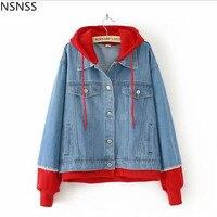 New Innovation Cotton Denim Jacket Plus Size Autumn Winter Women's Fat MM With Red Hat Stitching Denim Jacket