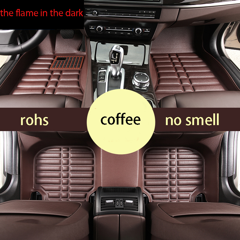fast shipping fiber leather car floor mats for toyota rav4 2013 2014 2015 2016 2017 4th generation XA40 car interior accessories leather floor mats carpets pad for bmw 3 series f30 2013 2014 2015 2016